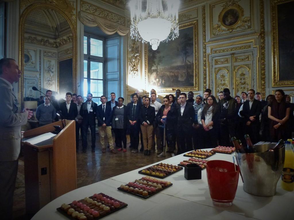Découverte 2017 - discours de clôture par le Directeur de l'IHEDN, Salon des Maréchaux de l'École militaire, Paris 7e